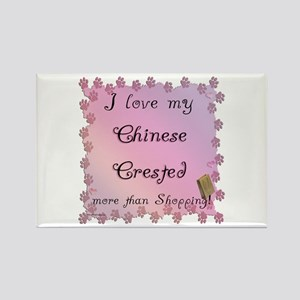 Crested Shopping Rectangle Magnet
