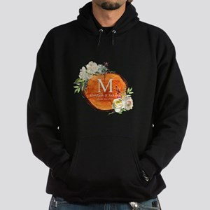 Floral Wood Wedding Monogram Sweatshirt