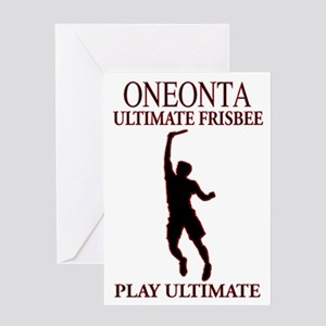 Oneonta Ultimate Frisbee Greeting Card