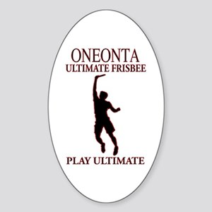 Oneonta Ultimate Frisbee Oval Sticker