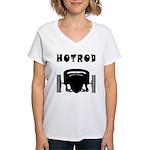HOTROD FRONT Women's V-Neck T-Shirt