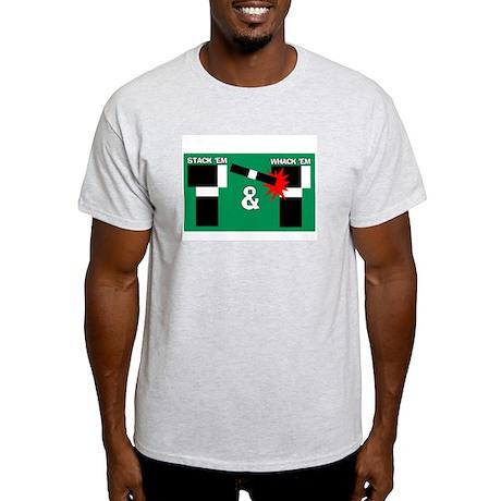 Stack 'em & Whack 'em - Ash Grey T-Shirt