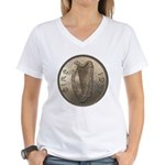 Irish Coin Women's V-Neck T-Shirt