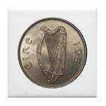 Irish Coin Tile Coaster