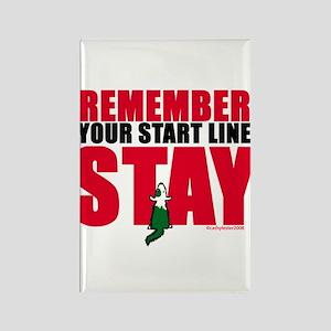 Start Line Stay Rectangle Magnet