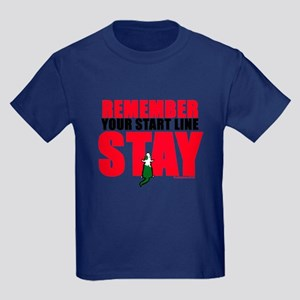 Start Line Stay Kids Dark T-Shirt