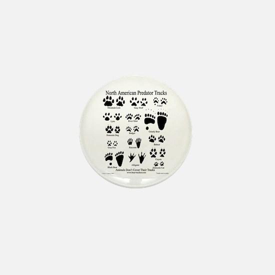 Predator Tracks Mini Button