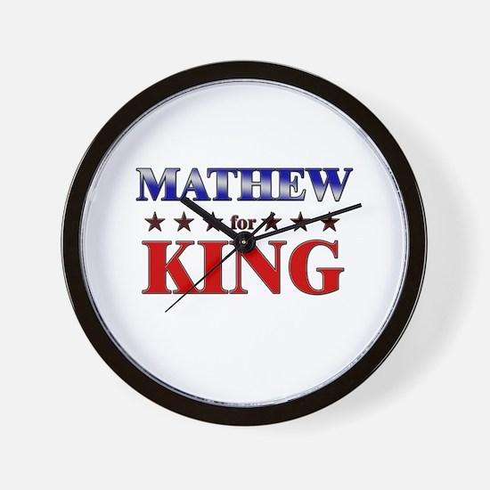 MATHEW for king Wall Clock