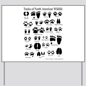 Animal Tracks Guide Yard Sign