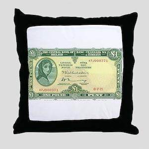 Irish Money Throw Pillow