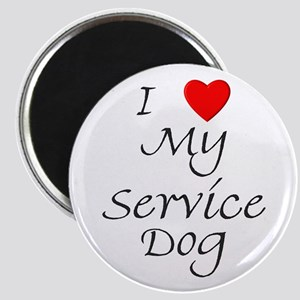 I Love My Service Dog Magnet