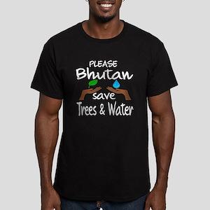 Please Bhutan Save Tre Men's Fitted T-Shirt (dark)