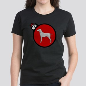 Red Weimaraner Christmas Women's Dark T-Shirt