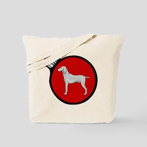 Red Weimaraner Christmas Tote Bag