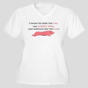Whole Hog Women's Plus Size V-Neck T-Shirt