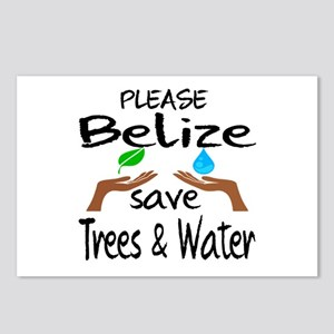 Please Belize Save Trees Postcards (Package of 8)