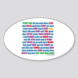 Agility Run Play by Play Oval Sticker