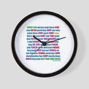 Agility Run Play by Play Wall Clock