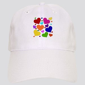Rainbow Hearts Cap