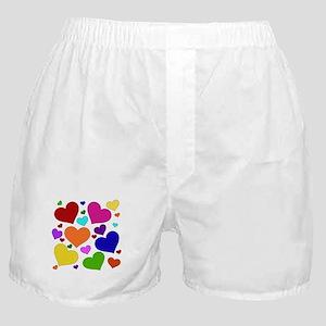 Rainbow Hearts Boxer Shorts