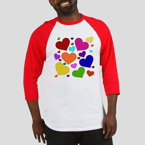 Rainbow Hearts Baseball Jersey