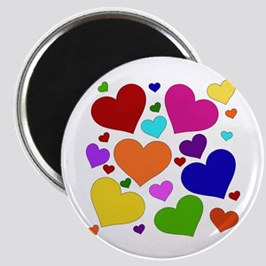 Rainbow Hearts Magnet