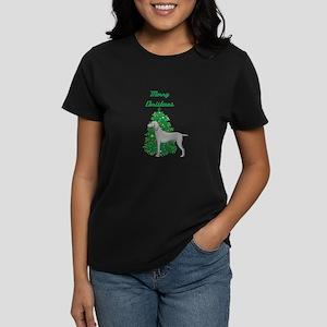 Merry Christmas Weimaraner Women's Dark T-Shirt