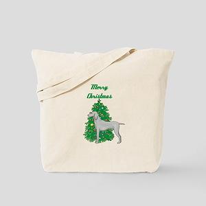 Merry Christmas Weimaraner Tote Bag