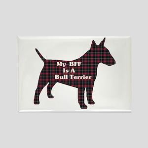 BFF Bull Terrier Rectangle Magnet (10 pack)