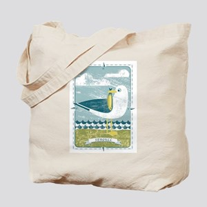 SEAGULL WITH FISH AND COMPASS Tote Bag