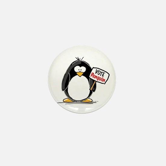 Cute Penguin cartoon Mini Button