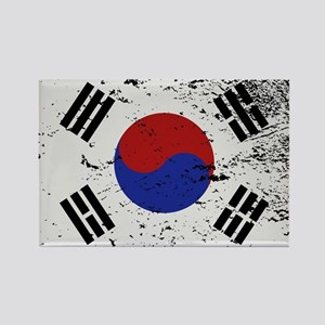 South Korea Flag Grunged Magnets