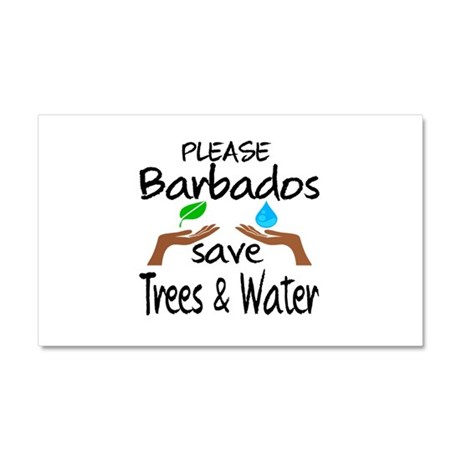 Please Barbados Save Trees & Wa Car Magnet 20 x 12