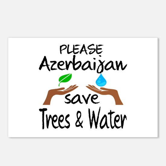 Please Azerbaijan Save Tr Postcards (Package of 8)