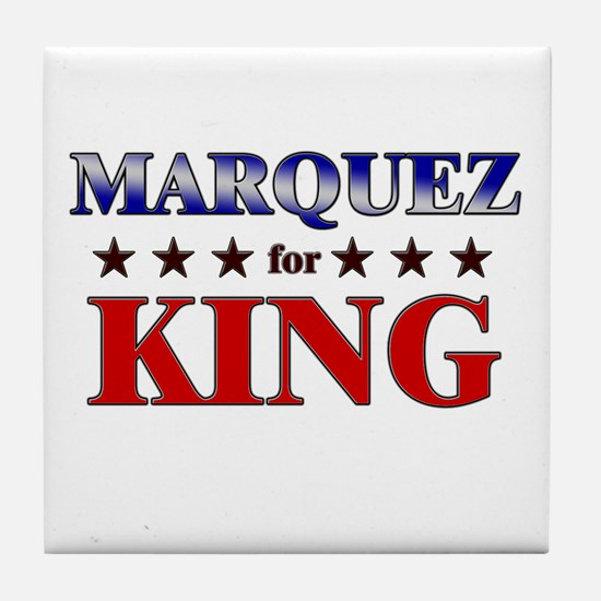 MARQUEZ for king Tile Coaster