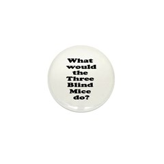 3 Blind Mice Mini Button (100 pack)