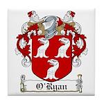O'Ryan Family Crest Tile Coaster