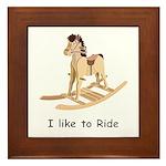 Rocking_horse I Like To Ride Framed Tile