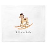 rocking_horse I like to ride King Duvet