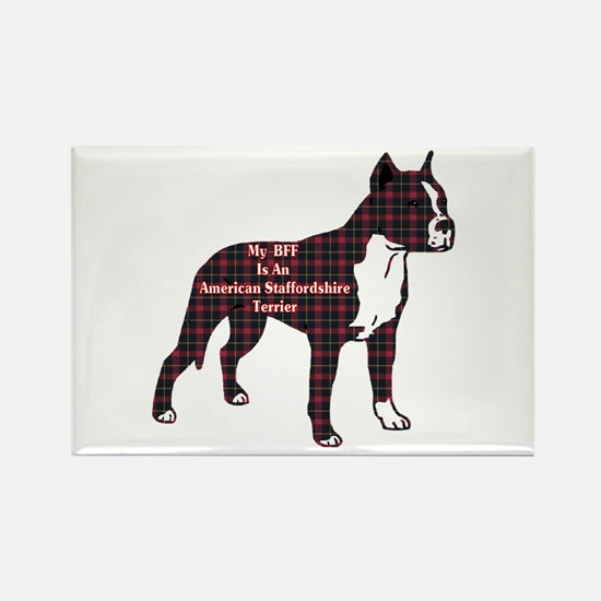 American Staffordshire Terrier Rectangle Magnet (1