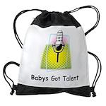 Babys Got Talent Drawstring Bag