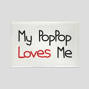 My PopPop Loves Me Rectangle Magnet
