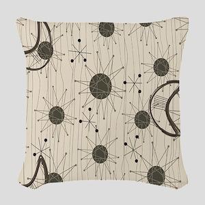 Starburst and Boomerangs Woven Throw Pillow