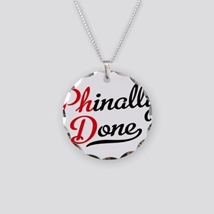phinally done Necklace Circle Charm