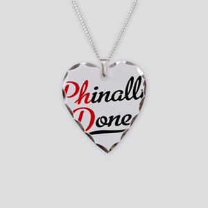 phinally done Necklace Heart Charm