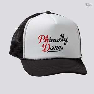 phinally done Kids Trucker hat