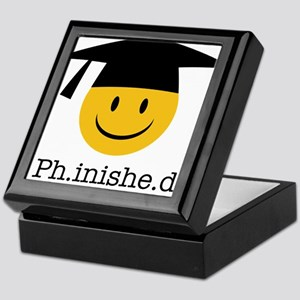 phd smiley Keepsake Box