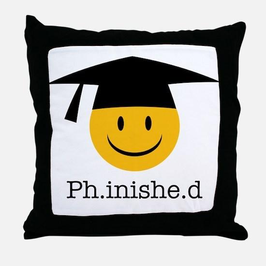 phd smiley Throw Pillow