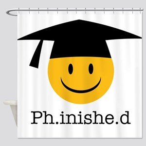 phd smiley Shower Curtain