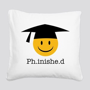 phd smiley Square Canvas Pillow